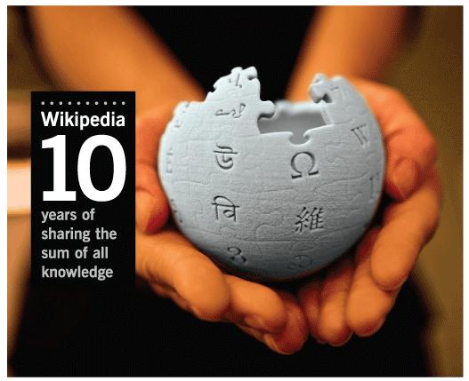 維基百科十週年紀念